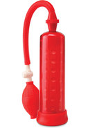 Pump Worx Silicone Power Pump Red