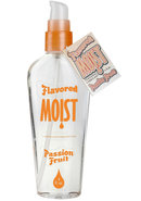 Moist Flavored Personal Lubricant Passion Fruit 4 Ounce