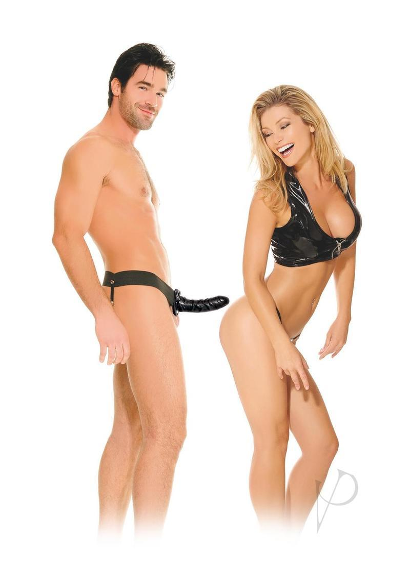 Fetish Fantasy Hollow Strap On 6.5 Inch Black